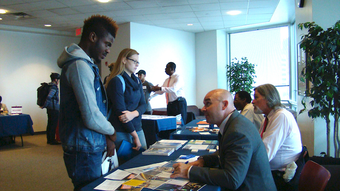 STEM Transfer Fair students enrolling
